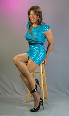 Crossed Legs In Shiny Hose! (kaceycd) Tags: pumps highheels mesh tgirl seethrough stilettoheels pantyhose crossdress spandex lycra tg stilettos seethru minidress sexypumps stilettopumps