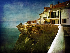 Nazar, Portugal along the Stio (h_roach) Tags: ocean travel sea cliff sunlight portugal horizontal high europe view perspective stio iberia nazar holidaydestination textureart magicunicornverybest