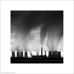 Power Tower (Andrew James Howe) Tags: uk longexposure light england sky blackandwhite architecture clouds buildings la