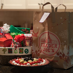 The Fun Begins! (lclower19) Tags: nikon d90 50mm np christmaspictureadaychallenge family visit travel gifts food salad square bag