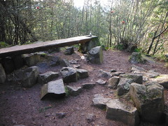 Lookout Tower foundation blocks turned to benches