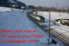 Buon Natale e Felice Anno Nuovo!!!! (Maurizio Zanella) Tags: snow italia trains neve railways fs alessandria trenitalia treni ferrovie rigoroso buonefeste e464583 rv2905