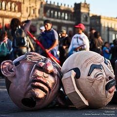 Heads (SegundoFelino) Tags: city people money mexico photography elba gente ciudad salinas protesta nieto heads esther adrien zocalo dinero pea calderon sandoval politicos cabezones cochinos puercos