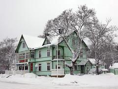The Pub (Steffe) Tags: winter snow pub sweden tungelsta haninge vaskospizzeria
