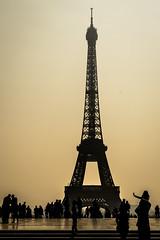 Eiffel Tower Backlighting.