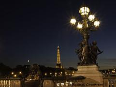 Torre Eiffel desde el Puente Alejandro III_2 (Raquel Camarero) Tags: bridge paris france tower night puente noche tour eiffel torreeiffel pont francia nuit pars alexandreiii alejandroiii