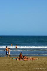 Girls in Beach of Benicàssim