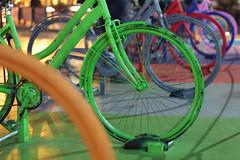 Biciclette colorate (Luminux1) Tags: city colors bicycle night canon 50mm colours sicily palermo sicilia politeama