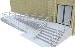 Top/Mid/Bottom ADA Railing - Ramp & Stairs