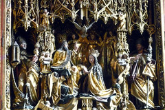 Michael Pacher, Sankt Wolfgang Altarpiece, Coronation of the Virgin detail