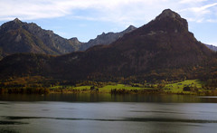 View across Wolfgangsee from the Parish Church of  Sankt Wolfgang