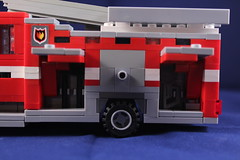 Fire Truck- SIde Storage Doors (brickpics518) Tags: city rescue truck fire town lego legos legoes madphysicist brickboys518