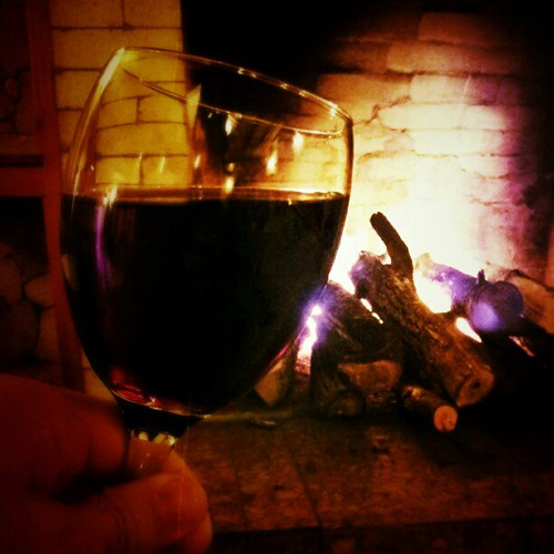 By the #fireside #glass of #wine