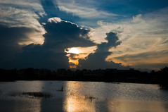 Lake 2 (Akash_kumar9) Tags: sunset lake reflection clouds evening rays