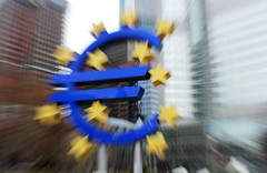 What happens with the euro? (roomman) Tags: test house blur art sign skyscraper germany check blurry europe downtown european hessen artistic zoom euro frankfurt politics union central bad eu talk bank future highrise what effect economy europeanunion banks zone 2012 ecb happens banken ezb europeancentralbank politk eurozone