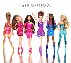 The Rainbow Fashionistas (fashionisto2k) Tags: fashion rainbow dolls nikki barbie skipper drew teen teresa christie mattel fever fashionistas raquelle
