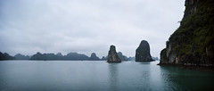 Ha Long (William J H Leonard) Tags: ocean winter sea panorama cliff seascape water misty landscape asian island islands bay rocks asia southeastasia vietnamese cloudy foggy cliffs vietnam limestone halong halongbay rockformation southeastasian northernvietnam limestonerocks gulfoftonkin limestonecliffs earthasia