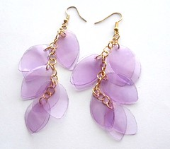 Violet earrings (d'ekoprojects) Tags: recycled handmade jewelry earrings ecofriendly handmadejewelry handmadeearrings upcycled ecochic recycledjewelry ecofriendlyjewelry recycledearrings upcycledjewelry upcycledearrings