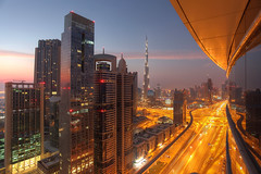 (Harry Ball) Tags: sunset architecture night photoshop dubai uae unitedarabemirates hdr 2012 sheikhzayedroad photomatix canonef1740mmf4l chelseatower downtowndubai canon5dmarkii rolextower burjkhalifa