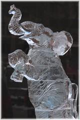 New Year's Eve Ice Sculpture (brooksbos) Tags: park city urban sculpture art ice public boston night geotagged ma photography photo newengland newyear newyearseve bostonma copley backbay copleysquare bostonist masschusetts gayphotographer