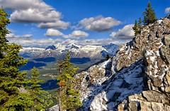 Above Banff (Philip Kuntz) Tags: canada explore alberta banff sulphurmountain mountinglismaldie fairholmerange mountpeechee mountgerouard