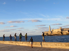 Fishermen on the malecon (alanah.montreal) Tags: havana cuba