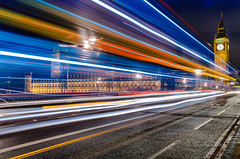 Yet another Big Ben... (miabid) Tags: uk longexposure england motion bus london westminster traffic bigben buslane