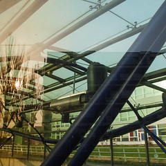 metrostation (fransje 2103) Tags: urban abstract france glass canon reflections square flickr shining schiedam archicture danslarue mfcc metrocoupole