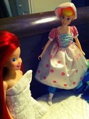 Bo peep and Ariel (fallconary615) Tags: doll peep bo ariel tyco chameleonfilter flickriosapp:filter=chameleon uploaded:by=flickrmobile