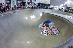 Poppy Starr - Backside Air (SteveWillard) Tags: california orange pool canon shoes skateboarding flash wideangle fisheye socal pools skateboard vans extremesports southerncalifornia dogtown bowls lightroom adobelightroom surfandskate backsideair strobist canon60d 92868 canonef15mmfisheye vansskateshoes stevewillard canon430exiispeedlite vanscombi lightroom43 poppystarr