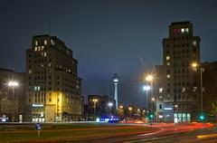 Ohne Spitze (funkead) Tags: city berlin architecture night cityscape pentax nacht stadt architektur fernsehturm friedrichshain k5 karlmarxallee hermannhenselmann henselmann justpentax pentaxk5 smcpm28f28 funkea funkead