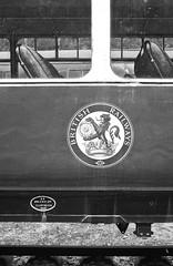 BR Crest - Gwili 1990. (yeahwotever) Tags: film overgrown wales 35mm fence bench wagon coach track br watertower cymru guard platform lot railway loco crest class steam aberystwyth wc 1958 restored disused british 100 zenit preserved van siding gw railways ltd ilford fp4 boiler 1990 buffer signalbox carmarthen grc shunter rheilffordd dmu greatwestern gorsaf 12xp 30445 gwili bronwyddarms 56317