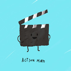 Action man. (cooeedesign) Tags: travel wedding sea music usa david london art beach nature water make japan architecture illustration canon advertising poster square typography design cool flickr graphic creative squareformat font type 365 everyday something cooee delahunty iphoneography instagramapp