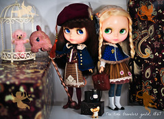 The time travelers guild (D-art ) Tags: liz doll dolls cookie auburn blonde kenner blythe brunette bangs chunky bobbie mechanique poupee