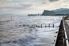 Winters Light (Ollie_57) Tags: winter sea england seascape beach nature canon landscape pier jan wave devon 7d railing coats seafront groynes teignmouth 2013 ef24105mm ollie57 saariysqualitypictures promanage