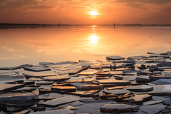 Icy sunset (KennethVerburg.nl) Tags: winter sunset lake holland ice netherlands dutch landscape zonsondergang meer nederland shelf flevoland landschap almere shove gooimeer ijs almerehaven shelfice ijsschotsen kruiendijs shoveice