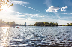 Berlin Summer (Alexander Steinhof) Tags: 60d berlin blau blue canon canoneos60d city clouds eos fluss germany himmel lake landscape landschaft natur nature river see spree stadt teltow wasser water wolken deutschland summer sun hot clear weather serene cloudless