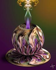 A Superbowl Party in New Orleans (Smoke Art #650) (Psycho_Babble) Tags: abstract smoke neworleans mardigras incense smokeart smokephotography smokephoto smokemanipulation creativesmoke smokecup