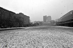 (its) snowing (damonabnormal) Tags: street city winter urban blackandwhite bw snow philadelphia architecture nikon january streetphotography sigma pa snowing philly wintertime phl independencehall urbanite 2013 d7000