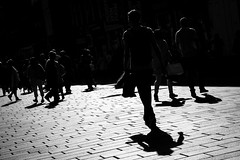 Like A Heatwave (Leanne Boulton) Tags: monochrome urban street candid streetphotography candidstreetphotography streetlife dutchangle composition contrejour backlit man male walking crowd busy sunlight tone texture detail depth silhouette shadow shadows silhouettes rimlighting contrast natural outdoor light shade city scene human life living humanity people society culture canon 7d black white blackwhite bw mono blackandwhite glasgow scotland uk