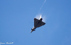 Eurofighter Typhoon (jason hackett) Tags: plane jet supersonic blue sky stunts fast mach1