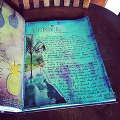 Unique.  Journaling July 20, 2016 (Kathryn Zbrzezny) Tags: artjournal artjournaling journal visualjournal write collage pastels visualdiary