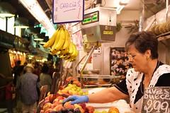 - Food market - (louisrigaud) Tags: boqueria canon photography portrait fruit women foodmarket barcelona