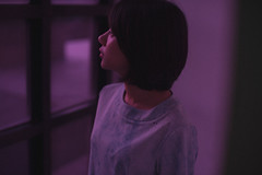 DSC_0781 (Ivan KT) Tags: art photography conceptual exhibition taiwan lotus girl woman light shadow sight portrait backlighting pink neon