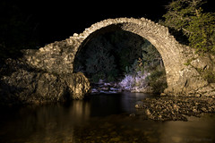 Come and look for me by the arch and the wading pool (OR_U) Tags: 2016 oru uk scotland carrbridge bridge le longexposure night nightphotography water river reflections cairngorms ruin decay heritage