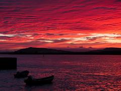 burning sky-8220161 (E.........'s Diary) Tags: eddie rossolympusomdem5markiiscotlandaugust2016newbu rossolympusomdem5markiiscotlandaugust2016newburghfifescotland sunset newburgh boats waterfront river tay