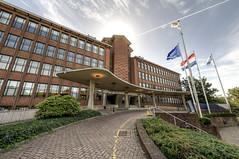 Former Head Office KLM (Esther Seijmonsbergen) Tags: monumentendag2016 hoofdkantoorklm ministerievanim hdr 5xp thehague denhaag ministerievaninfrastructuurenmilieu hoofdingang plesmanweg