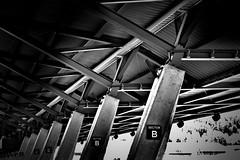 structure - [explored 18.08.2016] (camerito) Tags: strukture tragwerk bsw black white bw spielberg tribune tribne dachkonstruktion styria steiermark austria sterreich sector b sektor 2016 camerit nikon1 j4 flickr