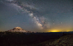 Tolmie Peak Milky Way (Don Jensen) Tags: night milky way star stars light pollution mount mountain rainier tahoma st helens tolmie peak lookout look out shoot meteor shooting glacier snow volcano washington national park