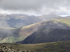 View from Green Gable (Claire Wroe) Tags: great gable green mountain hill fell lake district cumbria national park grass rock countryside england cloud sky landscape brown view lunch walk walking hike hiking